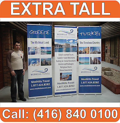 """96"""" TALL Retractable RollUp Trade Show Banner Stand Graphic Display (Hardware)"""