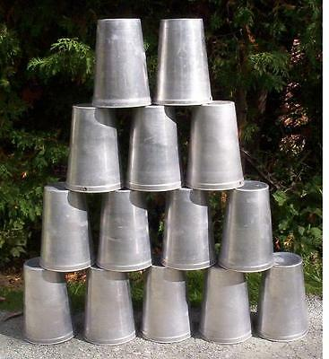 RARE 10 Aluminum CLING FREE Sap Buckets Maple Syrup SMOOTH BUCKET 2 GALLON