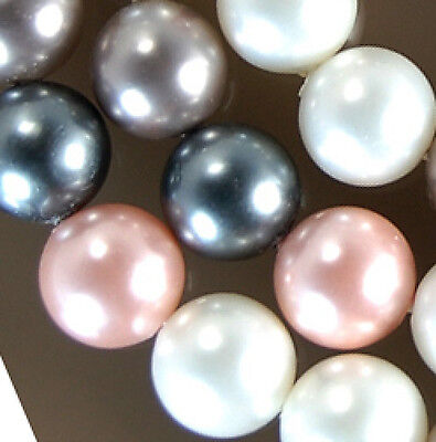 8mm Shell Pearl Round Beads 16""
