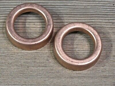 "Lightning rod ball end caps set of 2 solid copper new replacements 1 9/16"" large"