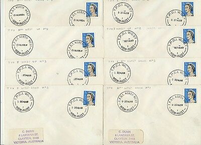 Postmarks NSW set 24 TPO various West, South, North West, North, Nth Coast cover