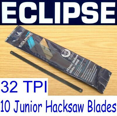 "6"" Eclipse 10 Pack x 32 TPI Junior Hacksaw Saw Blades Metal Cutting 153mm Long"