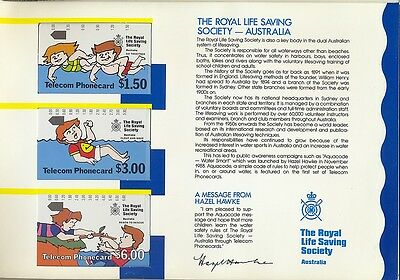 Phonecards Geelong Australia life saving pack in unused condition uncommon