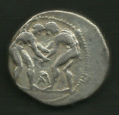 Ancient Greece Aspendos Pamphylia AR Silver Stater Wrestlers 380-325 BC Aspendus