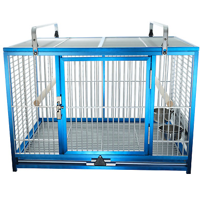 KINGS CAGES LARGE ALUMINIUM PARROT TRAVEL CAGE ATM 2029 bird SIL toy toys cage