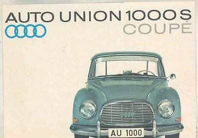 1962 Auto Union 1000S Coupe Brochure wt3179-M41BCX