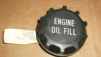 NOS Mopar 1989-92 oil filler cap w/raised white letters 4483110