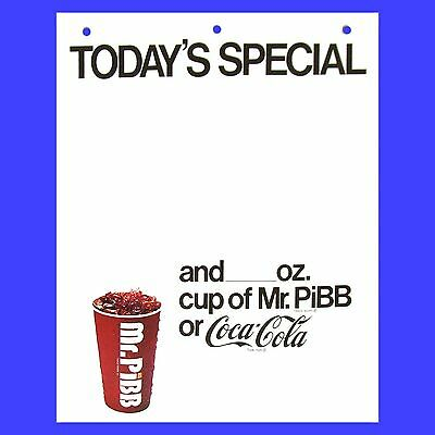 5 Mr Pibb Specialty Paper Signs 1970s Coke Coca Cola Poster