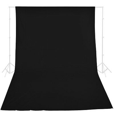 New Studio 10 x 20 Ft. Black Muslin Photo Backdrop Photography Background