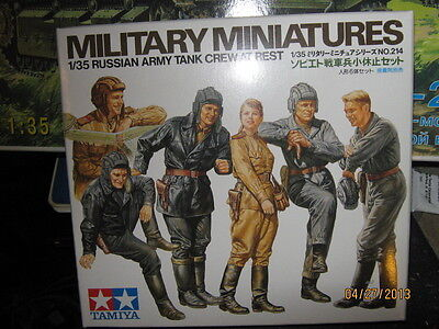 Tamiya WWII Russian Army Tank Crew at Rest-1/35 Scale-FREE SHIPPING