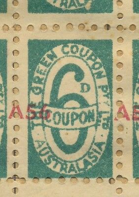 The Green Coupon Co Australia 6d coupons x 350 on 8 double sided pages booklet