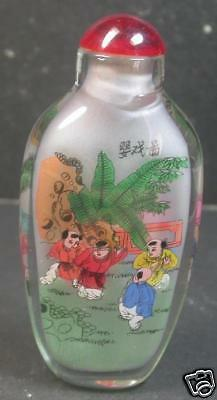 Chinese Glass Inside Painting Baby Boy Snuff Bottle  799264