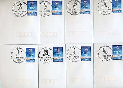 Sydney Olympics 2000 set of 27 postmarks on 27 opening first day covers uncommon