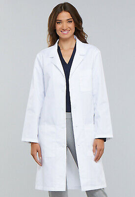 """White Cherokee Unisex 40""""  Lab Coat 1446 WHT, 1446A WHTD Antimicrobial"""