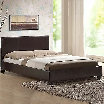 LEATHER BED-DOUBLE KING-BLACK-BROWN-WHITE With MEMORY FOAM-ORTHOPAEDIC MATTRESS