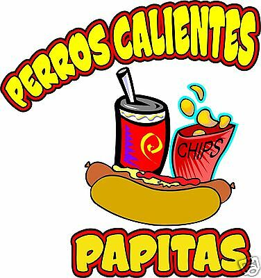 Concession Perros Calientes Hot Dogs Food Decal 14""
