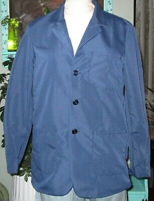 "Best Medical Wear Staff  L/S Lab Coat Scrubs Uniform 30"" Navy Blue Sz XS to 6X"