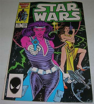 """STAR WARS #106 (Marvel Comics 1986) """"RARE"""" 2nd to LAST ISSUE! (FN/VF)"""