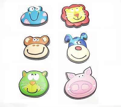 Novelty Animal Face Colourful Fridge Magnets - Great Party Bag Fillers! #4164