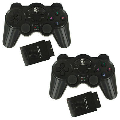 ZedLabz wireless RF double shock vibration controller for Sony PS2 - Twin pack