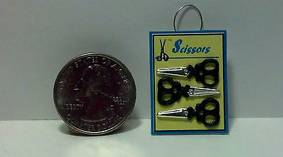 Dollhouse Miniature Sewing Shop Scissors Hanging Display A39 1:12 one inch scale
