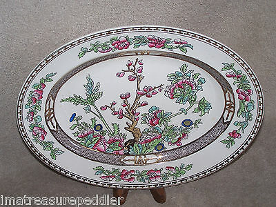 """Vintage Alfred Meakin The India Tree Oval Platter 12 1/2"""""""