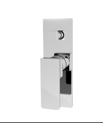Square Cooby Wide WELS Bathroom Shower Bath Wall Flick Mixer Tap With Diverter