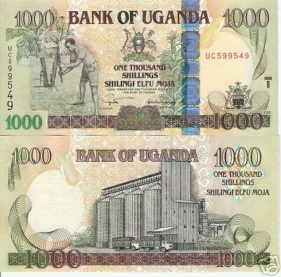 UGANDA 1000 Shillings Banknote World Money Currency p43a Bill 2005 Africa Note