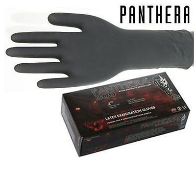 PANTHERA 300 - 50 x LONG LATEX GLOVES - X LARGE - TATTOO - EXPIRED