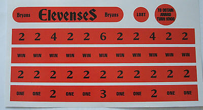 Bryans Allwin (Elevenses type) reproduction score decals