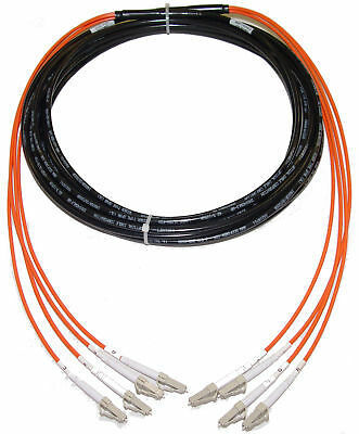 50/125 LC-LC 200M Direct Burial Indoor Outdoor Fiber Cable 656FT Multimode