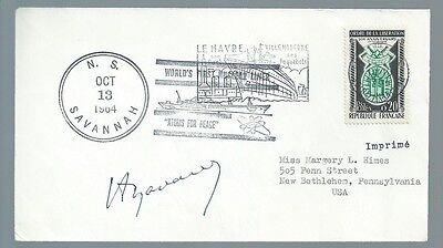 French Army General Henri Navarre signed cover