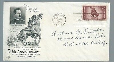 Roosevelts Rough Rider Arthur Tuttle signed cover