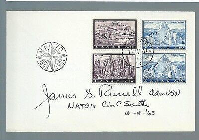 Admiral James S. Russell signed cover