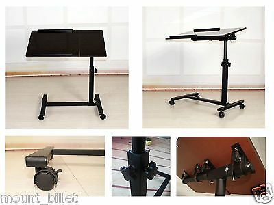 Portable Laptop Notebook Rolling Table Cart TV Stand Tiltable Tabletop Desk New