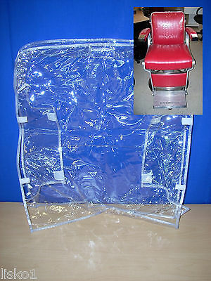 Takara Belmont Bb225 Barber Custom  Chair Plastic Chair Back Cover (Clear)