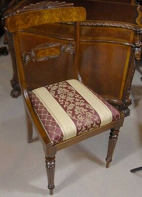 Set 12 English Regency Walnut Inlay Dining Chairs