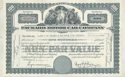 1953 Packard ORIGINAL Automobile Stock Certificate wt3611
