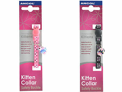 Ancol Luxuy Jewel Cat Kitten Collar With Safety Buckle And Bell - Star And Charm