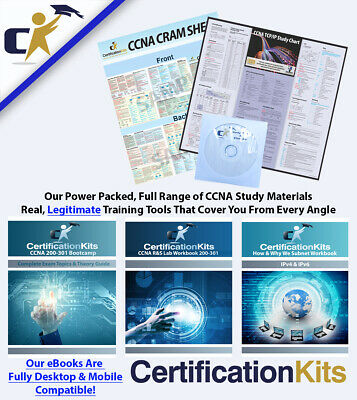 Cisco CCNA v3.0 200-125 Routing & Switching Study Value Pack.  Awesome Labs!