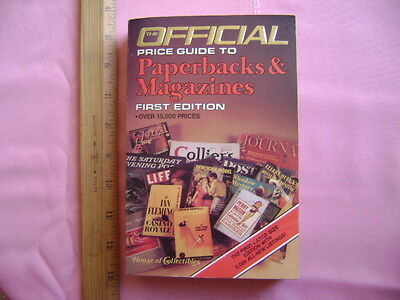 Official Price Guide to Paperbacks & Magazines.1986 1st ed.House of Collectibles