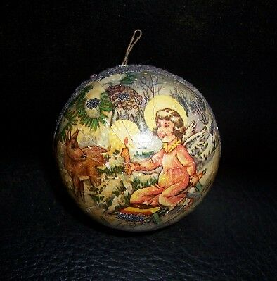 Victorian Xmas Germany Candy Container Ornament Ball