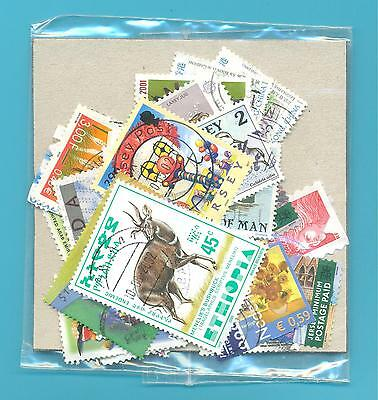 A SMALL COLLECTION OF WORLD STAMPS IN PACKET.USED.(ref 2005137)