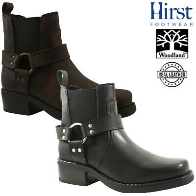 Mens Gringos Cowboy Leather Ankle Boots Size Uk 6 - 12 Black Or Brown M486 Kd