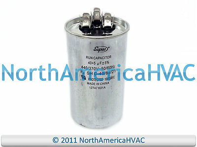 NEW Motor Round Dual Run Capacitor 40 + 5 uf MFD 440 Volt Packard PRCFD405