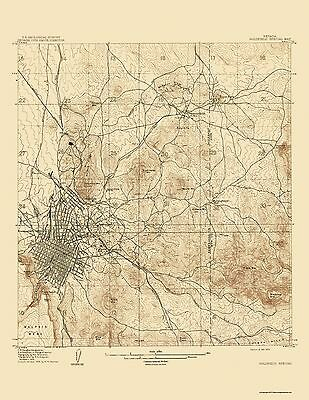 Topographical Map Print - Goldfield Special Nevada Quad - USGS 1909 - 17 x 22