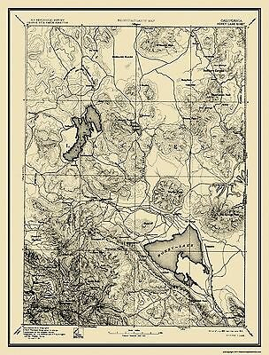 1893 USGS MAP HONEY LAKE California Susanville Shoofly