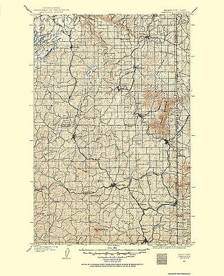 Oakesdale Washington Idaho Quad - USGS 1903 - 23 x 28.25
