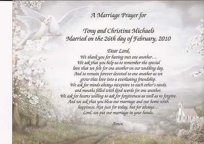 """""""A Marriage Prayer"""" Personalized Poem Beautiful Anniversary Wedding Gift"""