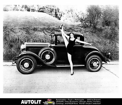 1929 Dodge Coupe Factory Photo Hollywood Star Frances Gentry ub3145-GKT6PG